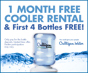 1 Month Free Cooler Rental & First 4 Bottles FREE!